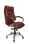 High Back Leather Faced Executive Armchair 617KTAG - enlarged view