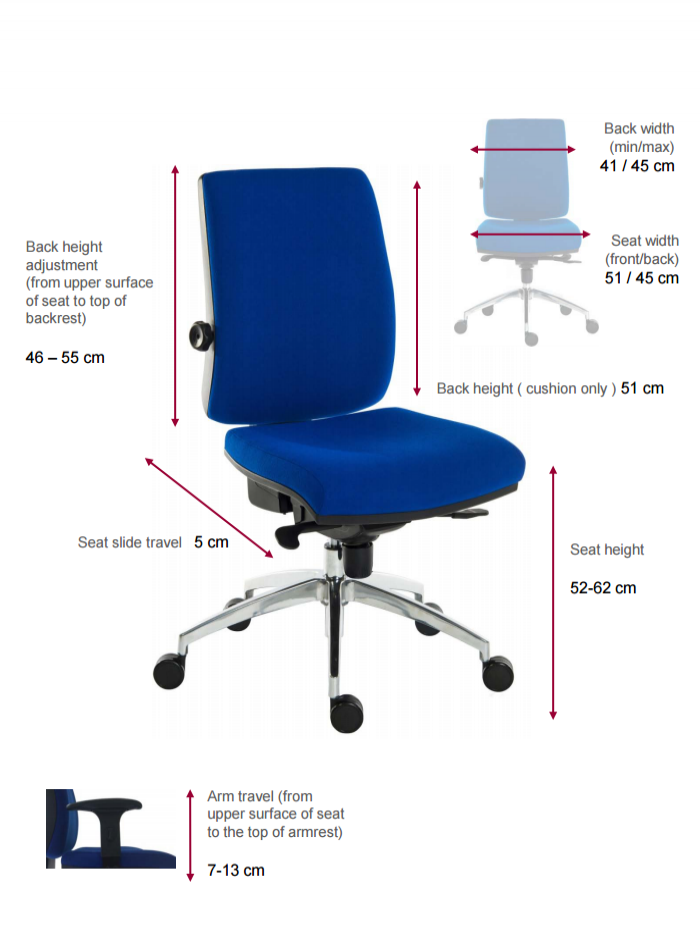 Ergo plus 24 hour executive operators chair 9600 r510