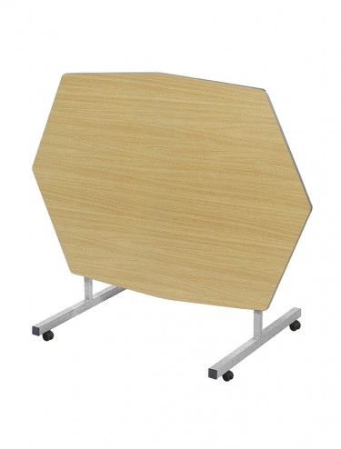 School Dining Table 1380mm x 1000mm Octagonal Tilt Top Dining Tables TILT-OCT-MD