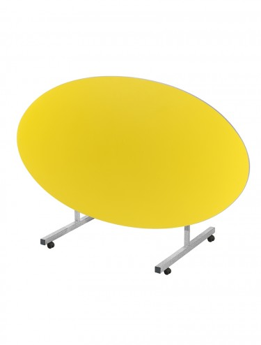 School Dining Table 1610mm x 900mm Oval Tilt Top Dining Tables TILT-OVAL-169-MD