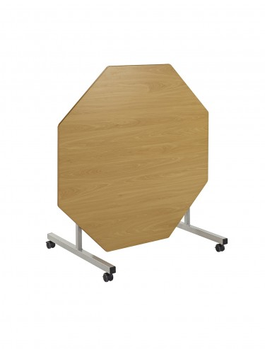 School Dining Table1200mm x 1200mm Octagonal Tilt Top Dining Tables TILT-EQOCT-MD
