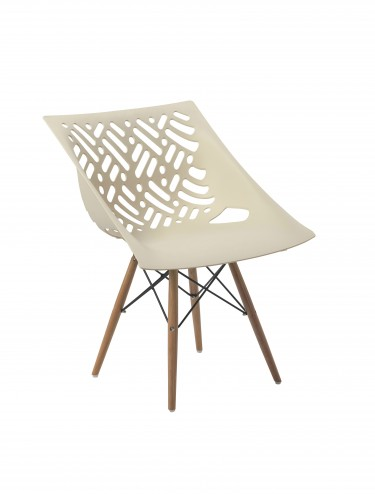 Latte Lightweight Poly Chair BCP/Y820/WH