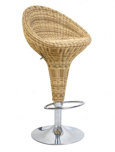 Rattan Effect Adjustable Barstool BBR/A007/BE