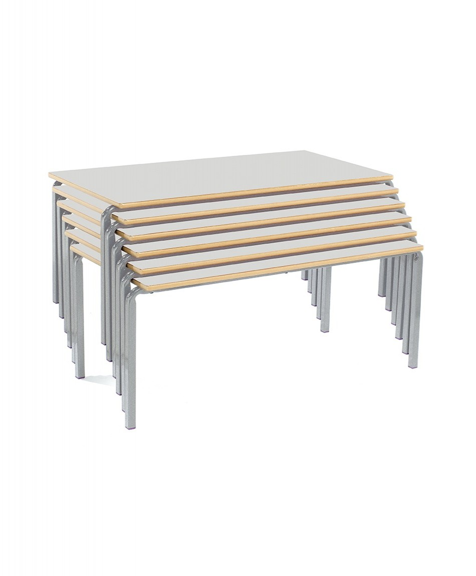 Classroom Tables CBSQ-115-MD Rectangular Stacking Tables - School Stacking Tables