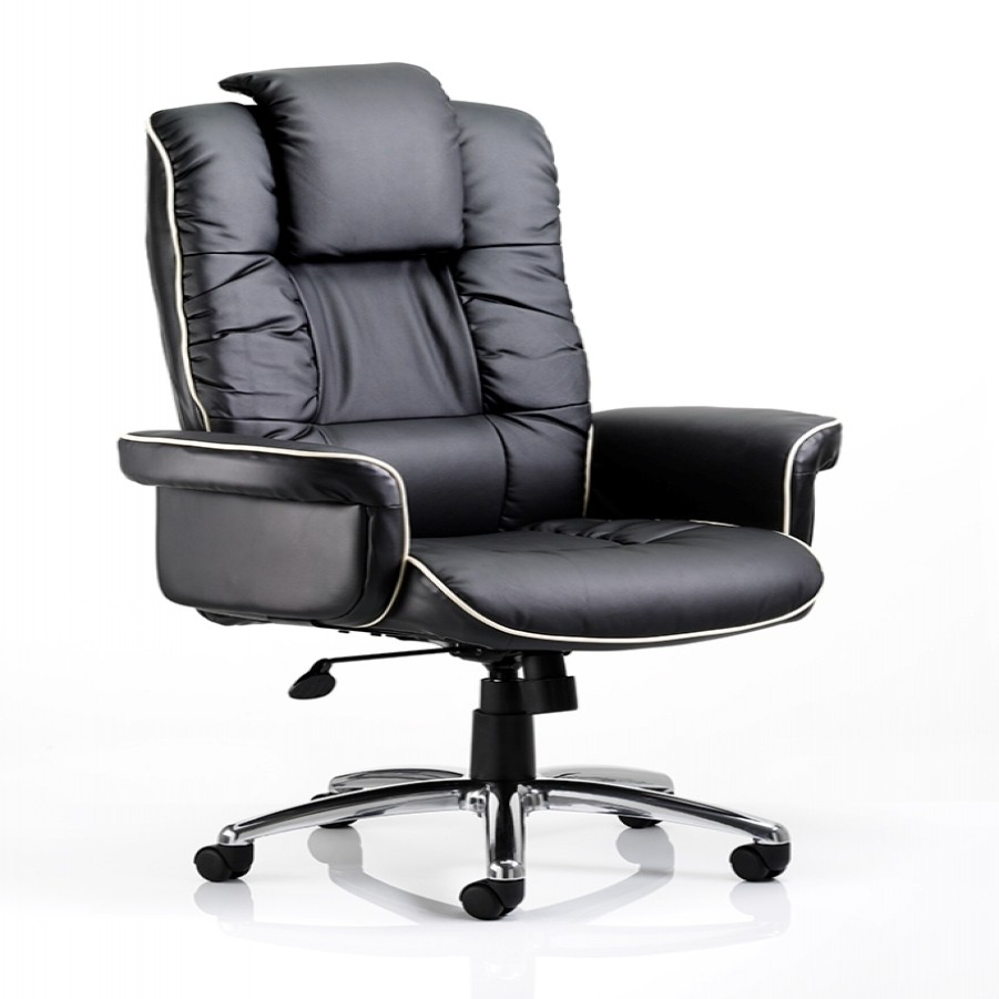 Dynamic Chelsea Leather Faced Executive Chair In Black