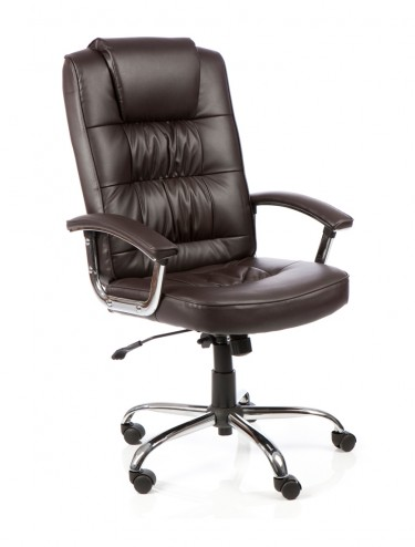Moore Deluxe Executive Brown Leather Chair