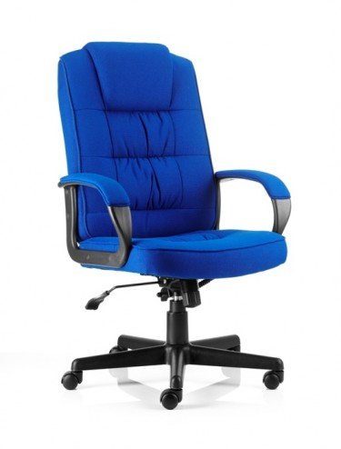 Office Chairs - Moore Executive Fabric Chair in Blue
