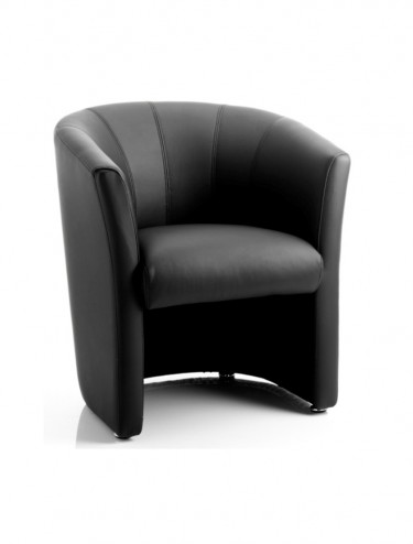 Neo Leather Reception Tub Chair in Black