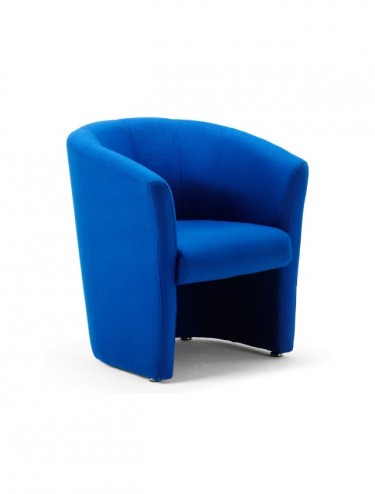 Neo Fabric Reception Tub Chair in Blue