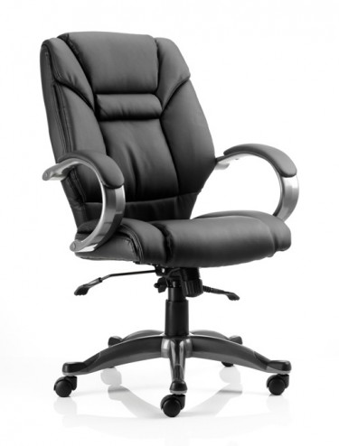 Galloway Executive Leather Armchair in Black