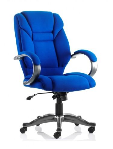 Office Chairs - Galloway Executive Fabric Armchair in Blue