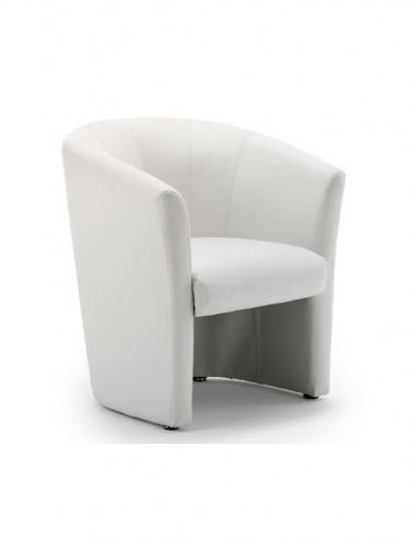 Neo Leather Reception Tub Chair in White