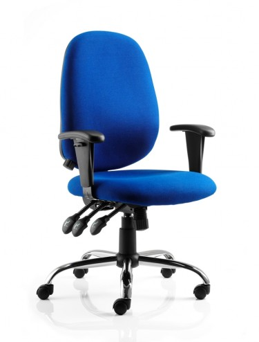 Office Chairs - Lisbon Fabric Operators Chair in Blue OP000074