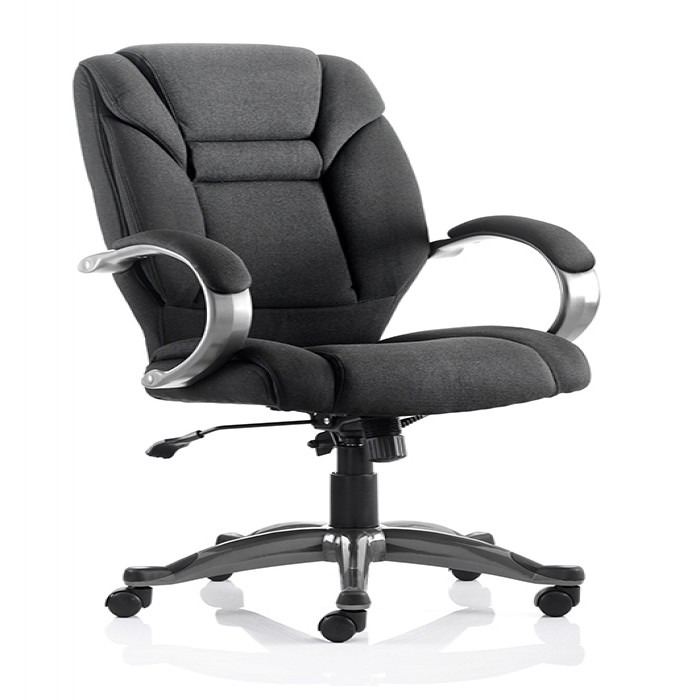 Dynamic Galloway Executive Armchair in Black Fabric | 121 ...
