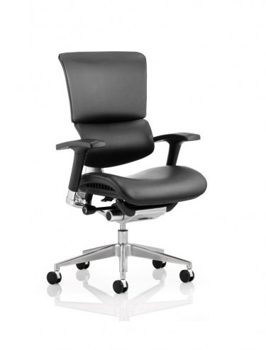 Ergo-Dynamic Leather Office Chair EO01BFBLTHR Black Frame