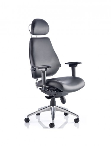 Chiro Plus Ultimate 24 Hour Leather Office Chair