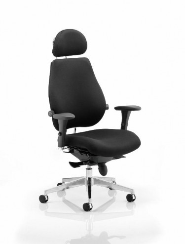 Chiro Plus Ultimate 24 Hour Fabric Office Chair - Black