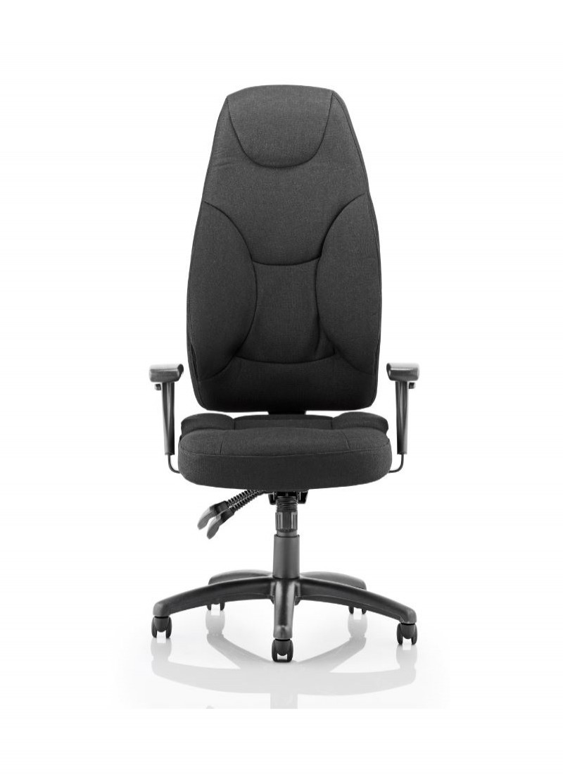 High back fabric office chair - Galaxy High Back Black Fabric Operators Chair Glhbblkf02 Enlarged View