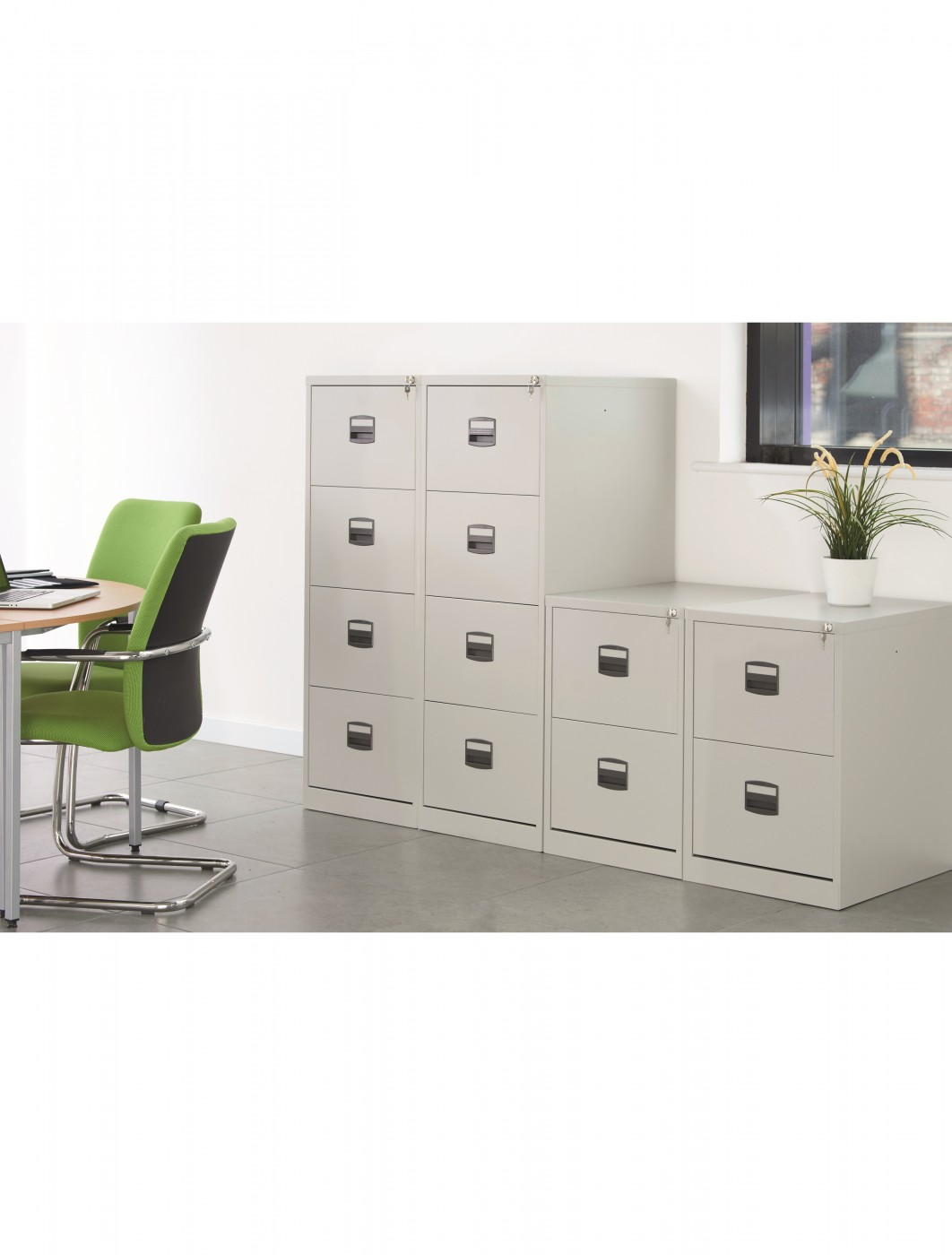Bisley 2 Drawer Economy Contract Filing Cabinet BCF2