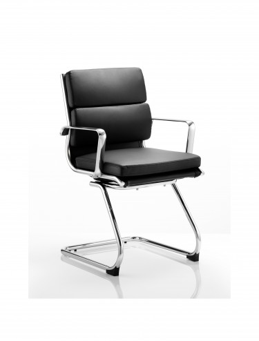 Dynamic Savoy Black Cantilever Visitors Chair