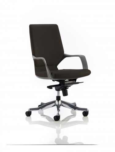 Dynamic Xenon Medium Executive Black Leather Office Chair