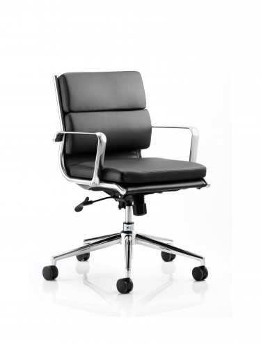 Dynamic Savoy Black Medium Back Executive Chair