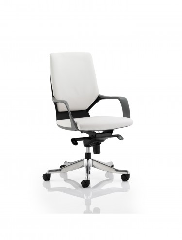 Dynamic Xenon Medium Executive White Leather Office Chair