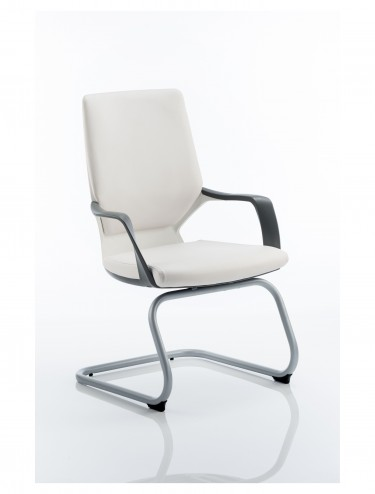 Dynamic Xenon White Leather Visitor Chairs BR000145