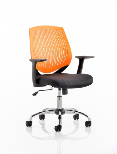 Dynamic Dura Elastomer Back Operators Chair in Orange OP000019