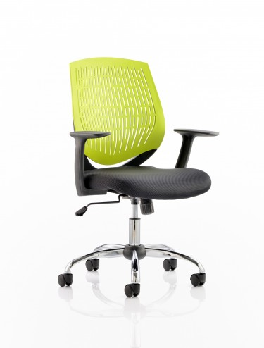 Dynamic Dura Elastomer Back Operators Chair in Green OP000016
