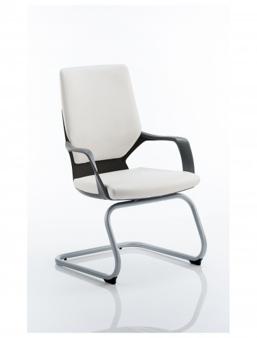Dynamic Xenon White Leather Visitor Chairs BR000139