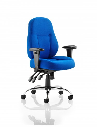 Office Chairs - Dynamic Storm Fabric Operators Chair in Blue