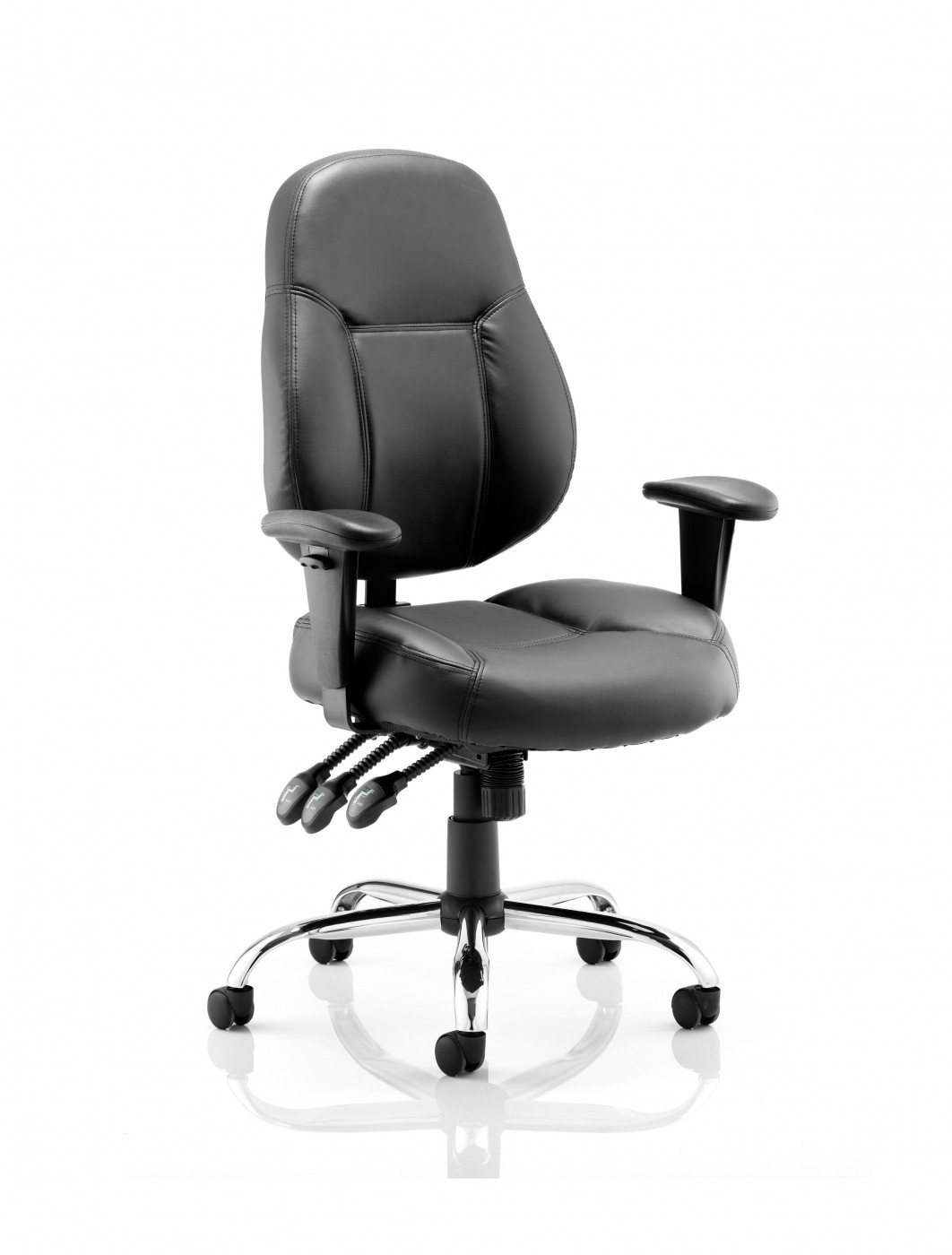 Dynamic Storm Leather Task Operators Chair - enlarged view