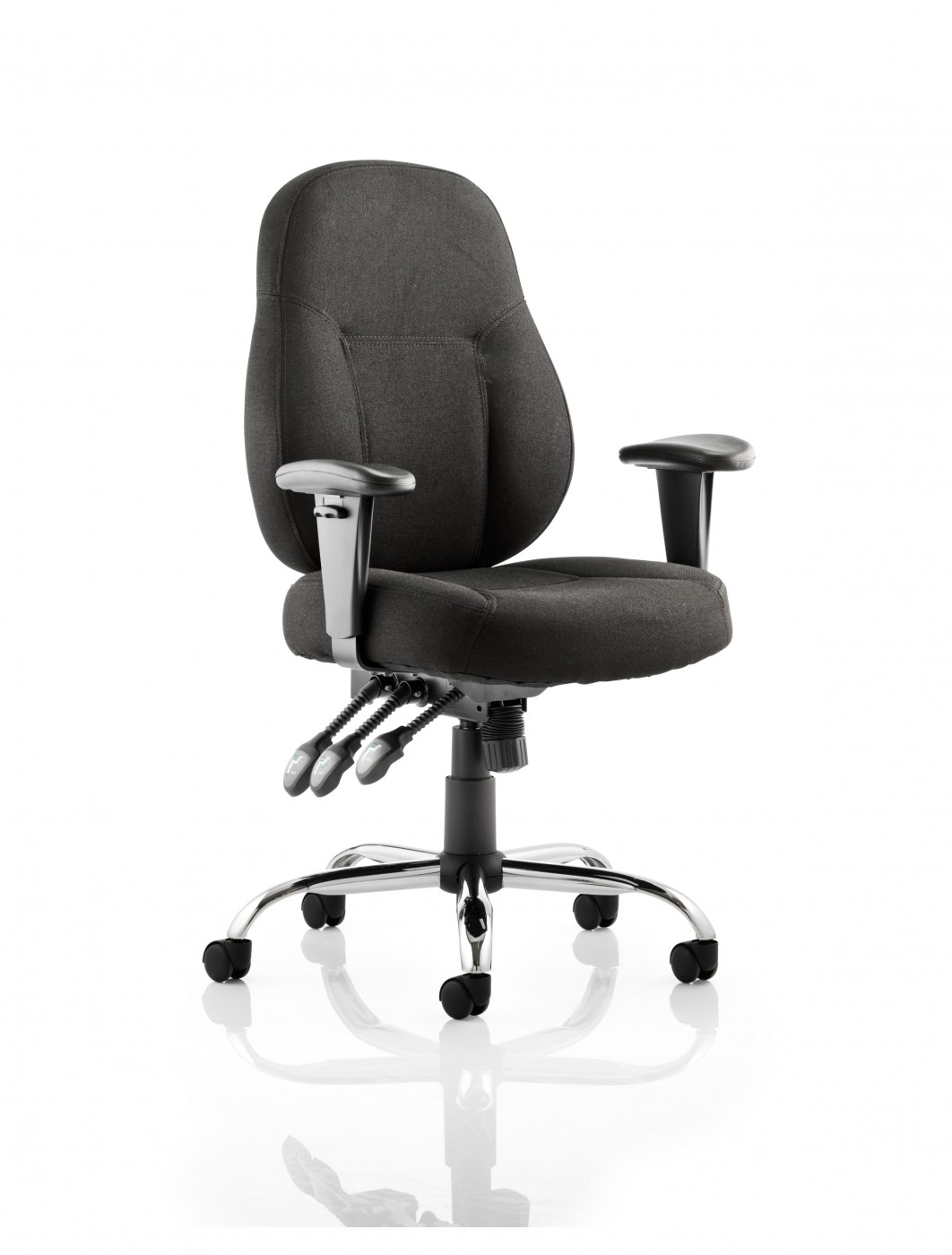 Office Chairs - Dynamic Storm Black Fabric Operator Chairs | 121 ...