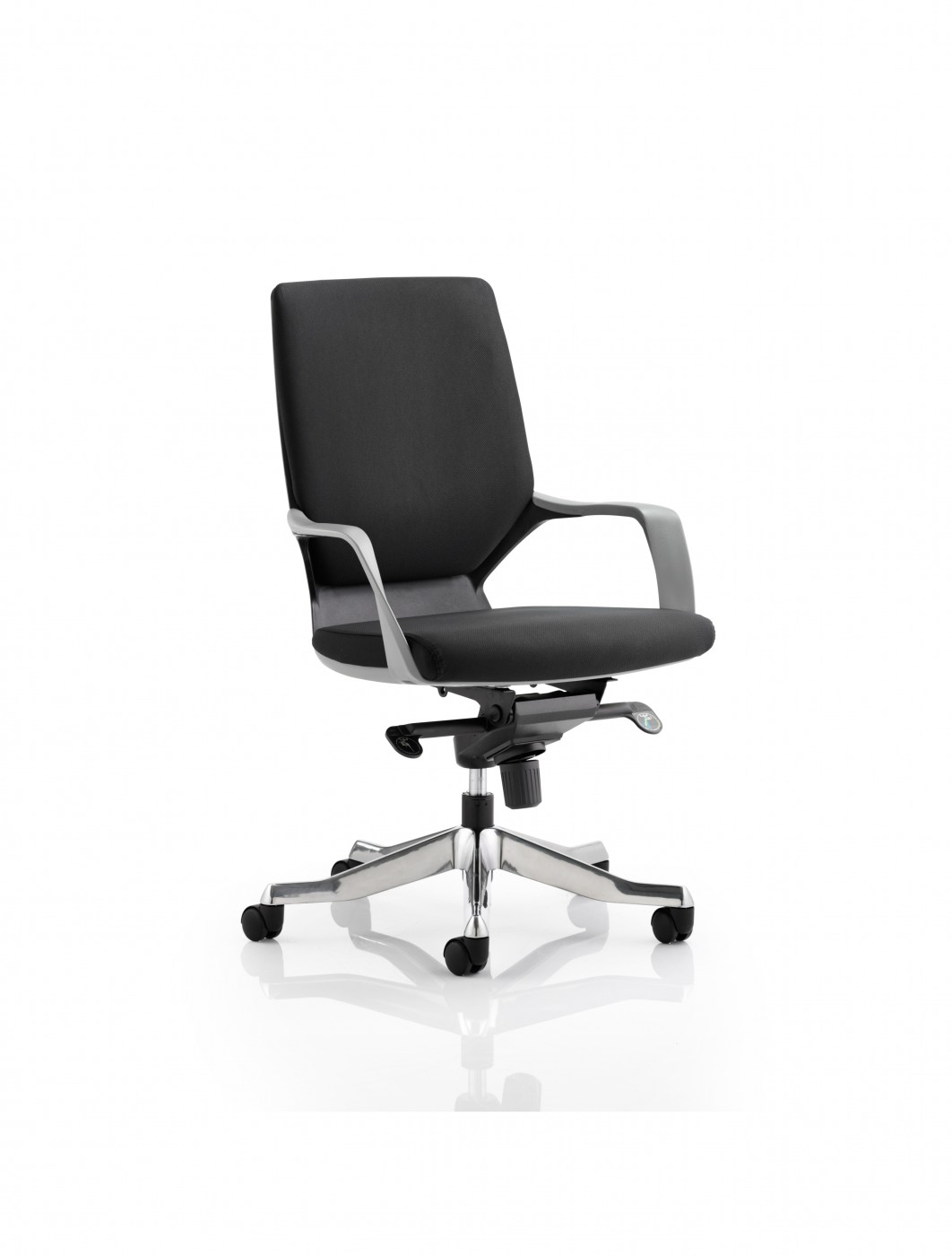 Dynamic Xenon Medium Executive Black Fabric Office Chair   Enlarged View