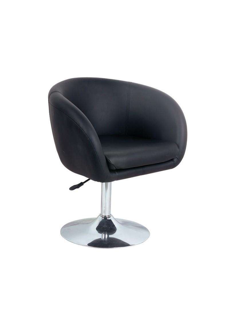Alaska Leather Effect Lounge Chair Bbp A003 Bk 121