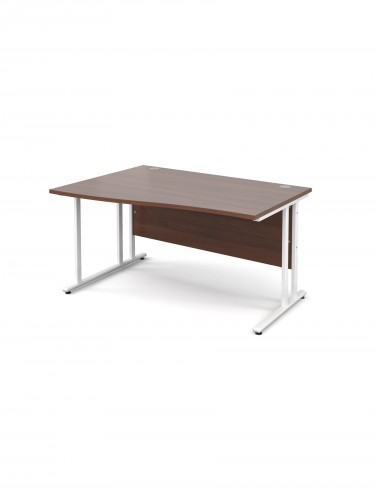 Teviot 1400mm Left Hand Wave Office Desks TEVWHWL14W