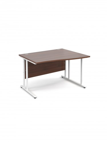Teviot 1200mm Right Hand Wave Office Desks TEVWHWR12W
