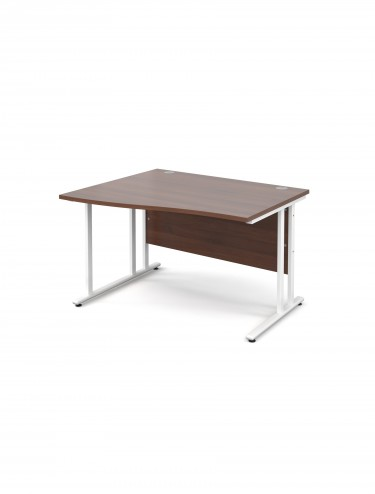Teviot 1200mm Left Hand Wave Office Desks TEVWHWL12W