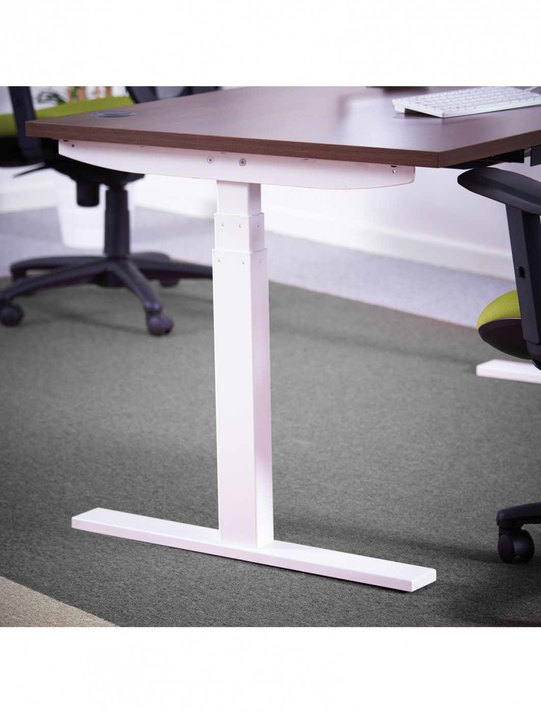 1400mm Wide Elev8 Sit Stand Desk EV14S   Enlarged View