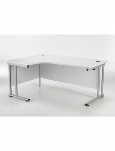 TC Lite Crescent Left Hand Desk 1600mm LITE1612CWSLCLWH