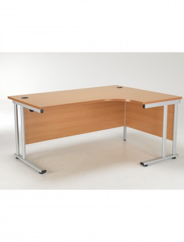TC Lite Crescent Desk Right Hand 1600mm LITE1612CWSRCLBE