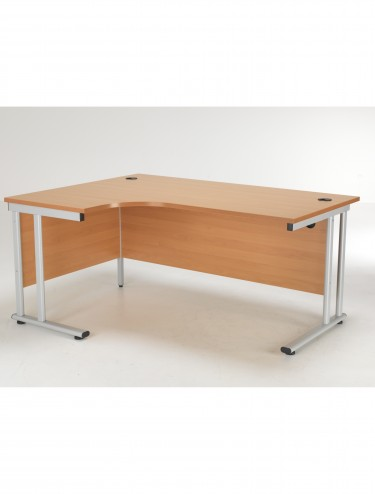 TC Lite Crescent Left Hand Desk 1600mm LITE1612CWSLCLBE