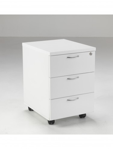 3 Drawer Mobile Pedestal LITEMP3DLUXWH