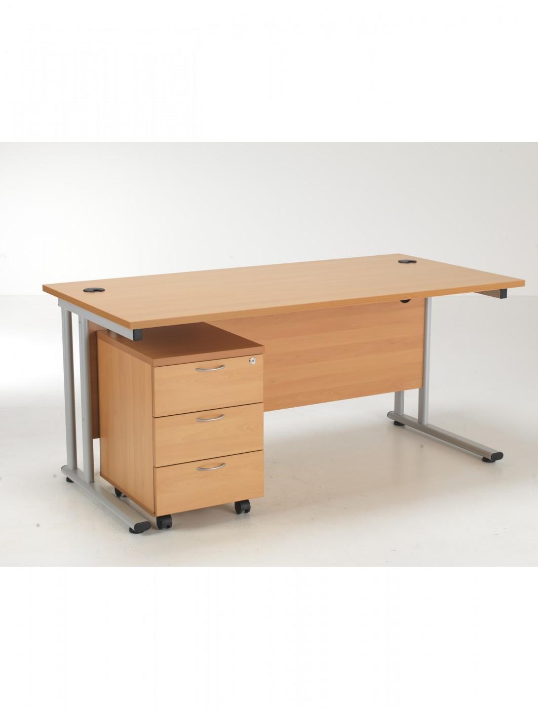 Tc Desk And Pedestal Lite1680bund3be 121 Office Furniture