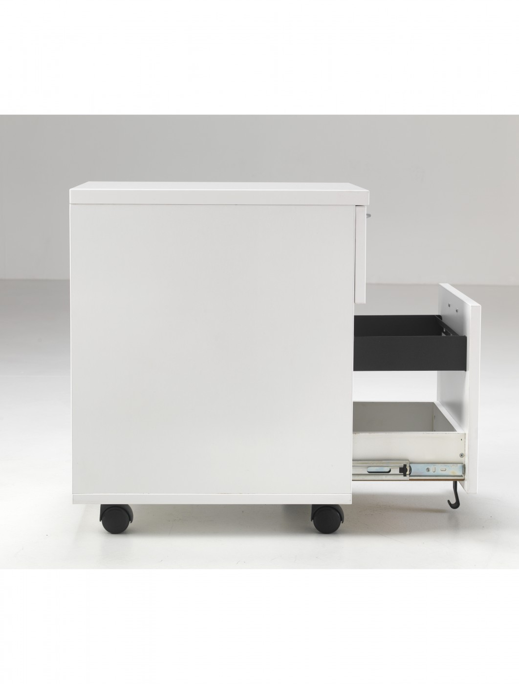 Lite 2 Drawer Mobile Pedestal LITEMP2DLUXWH   Enlarged View