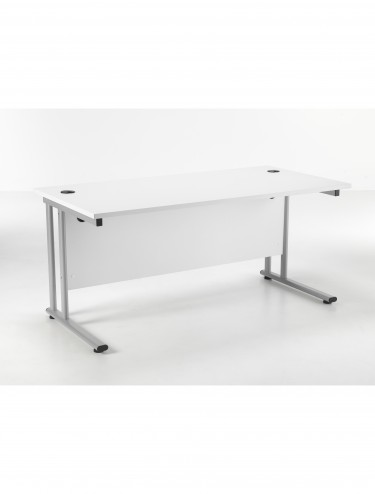 TC Lite Rectangular Desk 1400mm LITE1480RECCLWH