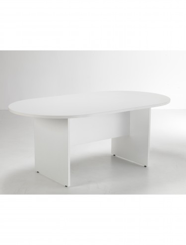 TC Lite 1800mm Rounded Rectangular Meeting Table LITE1810DEWH