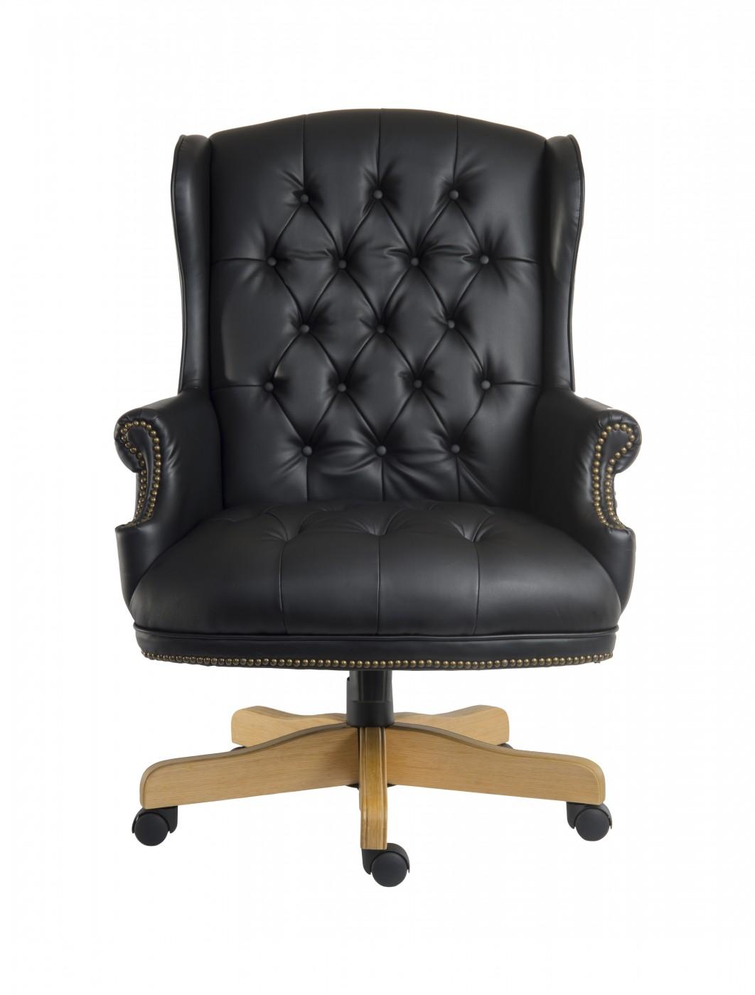 Teknik Chairman Noir Executive Leather Chair B800   Enlarged View