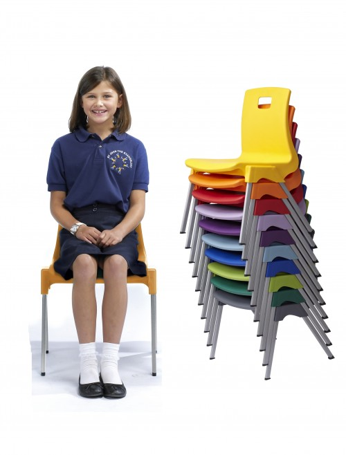 Classroom Chairs - Metalliform ST Chairs - Age 8-11 Years Polypropylene Classroom Chairs ST4